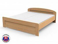 Manželská postel 220x180 cm Petra rovné čelo u nohou (masiv)
