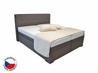 Manželská postel Boxspring 160 cm Blanár Rumba (hnědá) (s roštem a matracemi)