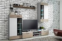 Obývací stěna Tallington (bílá + dub sonoma)