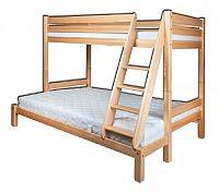 Patrová postel 90 a 140 cm LK 155 (masiv)