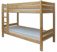 Patrová postel 90 cm LK 136 (masiv)