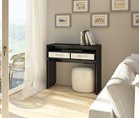 PC stolek Zoom černá + lesk bílý