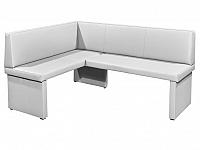 Rohová lavice Modern bílá (L)