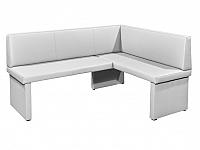 Rohová lavice Modern bílá (P)