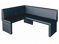 Rohová lavice Modern černá (L)