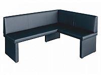 Rohová lavice Modern černá (P)