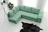 Rohová sedací souprava Arlene (zelená) (L)