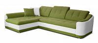 Rohová sedací souprava Bray L L+2F (zelená + bílá) (L)