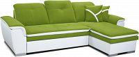 Rohová sedací souprava Estevan 2F+L (zelená + bílá) (P)