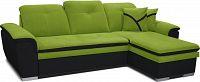 Rohová sedací souprava Estevan 2F+L (zelená + černá) (P)