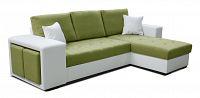 Rohová sedací souprava Thema Lux 2F+L (zelená + bílá) (P)