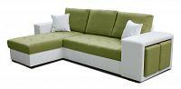 Rohová sedací souprava Thema Lux L+2F (zelená + bílá) (L)