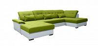 Rohová sedací souprava U Milton L+2F+BL (zelená + bílá) (L)