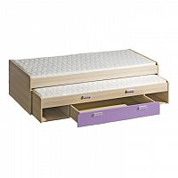Rozkládací postel 80 cm L16 (s rošty) (fialová)