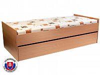 Rozkládací postel 90 cm Nika 2 (s rošty, bez matrací)