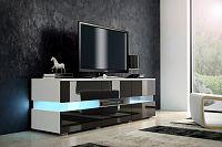 TV stolek Inter bílá + lesk černý