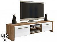 TV stolek/skříňka Helix (sonoma světlá + lesk bílý)