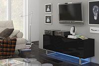 TV stolek/skříňka King 1 (černá + lesk černý)