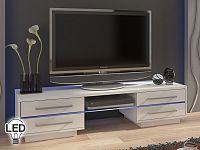 TV stolek/skříňka Laguna (bílá + lesk bílý)