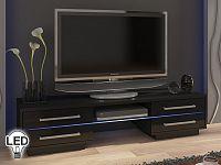TV stolek/skříňka Laguna (černá + lesk černý)