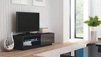 TV stolek/skříňka Livo RTV-120S (černá + lesk černý)