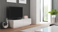 TV stolek/skříňka Livo RTV-160S (bílá + lesk bílý)