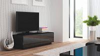 TV stolek/skříňka Livo RTV-160S (černá + lesk černý)