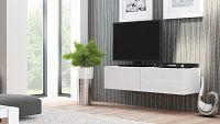 TV stolek/skříňka Livo RTV-160W (bílá + lesk bílý)