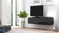 TV stolek/skříňka Livo RTV-160W (černá + lesk černý)