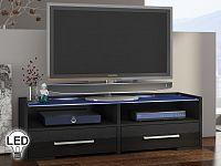TV stolek/skříňka Semprio (černá + lesk černý)