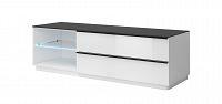 TV stolek/skříňka Typ 40 (bílá + černé sklo)
