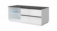TV stolek/skříňka Typ 41 (bílá + černé sklo)