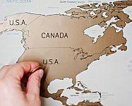 Stírací mapa světa na stěnu: Ukážeme vám ta nejkrásnější místa