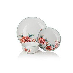 12dílná sada nádobí z porcelánu Sabichi Blossom