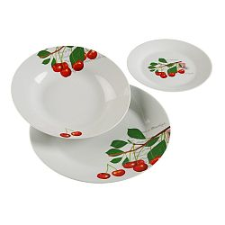 18dílný set talířů z porcelánu VERSA Cherry