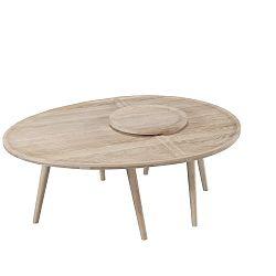 2dílný konferenční stolek z dubového dřeva Wewood - Portuguese Joinery Colombo
