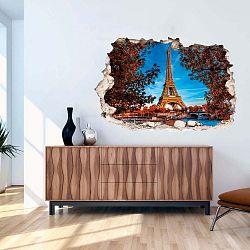 3D samolepka na zeď Ambiance Eiffel Tower in Autumn