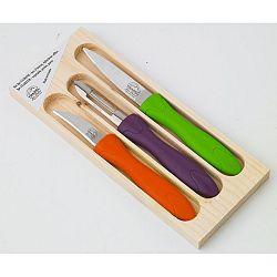 3dílná sada nožíků a škrabky v dřevěné krabičce Jean Dubost Rainbow