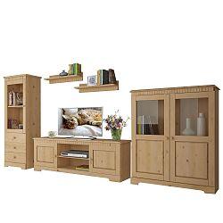 3dílný obývací set z masivního borovicového dřeva  Støraa Caroline