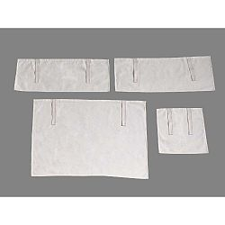 4 dílný set bílých závěsů Vipack Charlotte