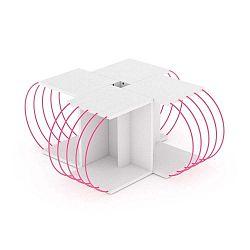 4dílný variabilní konferenční stolek se růžovými detaily Frederick