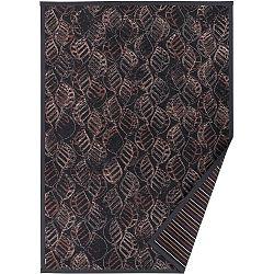 Antracitově šedý vzorovaný oboustranný koberec Narma Niidu, 140x200cm