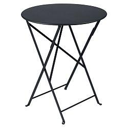 Antracitově šedý zahradní stolek Fermob Bistro, Ø 60 cm