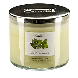 Aroma svíčka s vůní máty a eukalyptu Copenhagen Candles,doba hoření 50 hodin