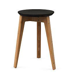 Bambusová stolička s černým sedátkem z bukového dřeva We Do Wood Button