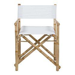 Bambusová židle s bílým sedákem Santiago Pons Hollywood