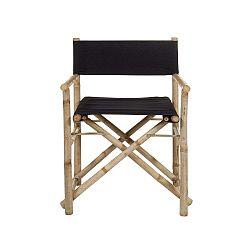 Bambusová židle s černým sedákem Santiago Pons