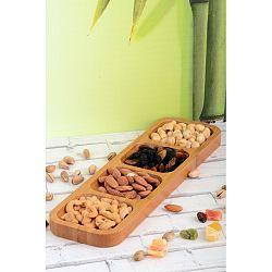 Bambusový podnos Kutahya Snacks, 33 x 10 cm