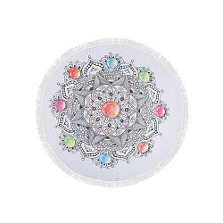 Barevná plážová osuška z bavlny Pop, ⌀ 150 cm