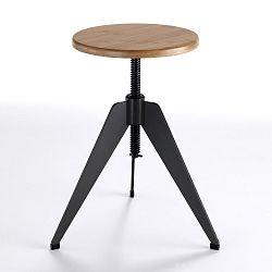 Barová stolička se sedátkem z dubového dřeva Tomasucci Arco